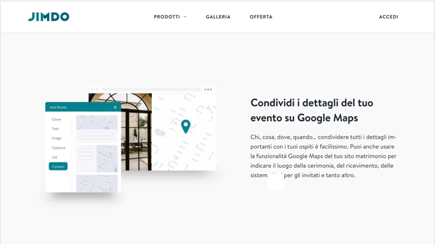 Jimdo UXUI localization italian