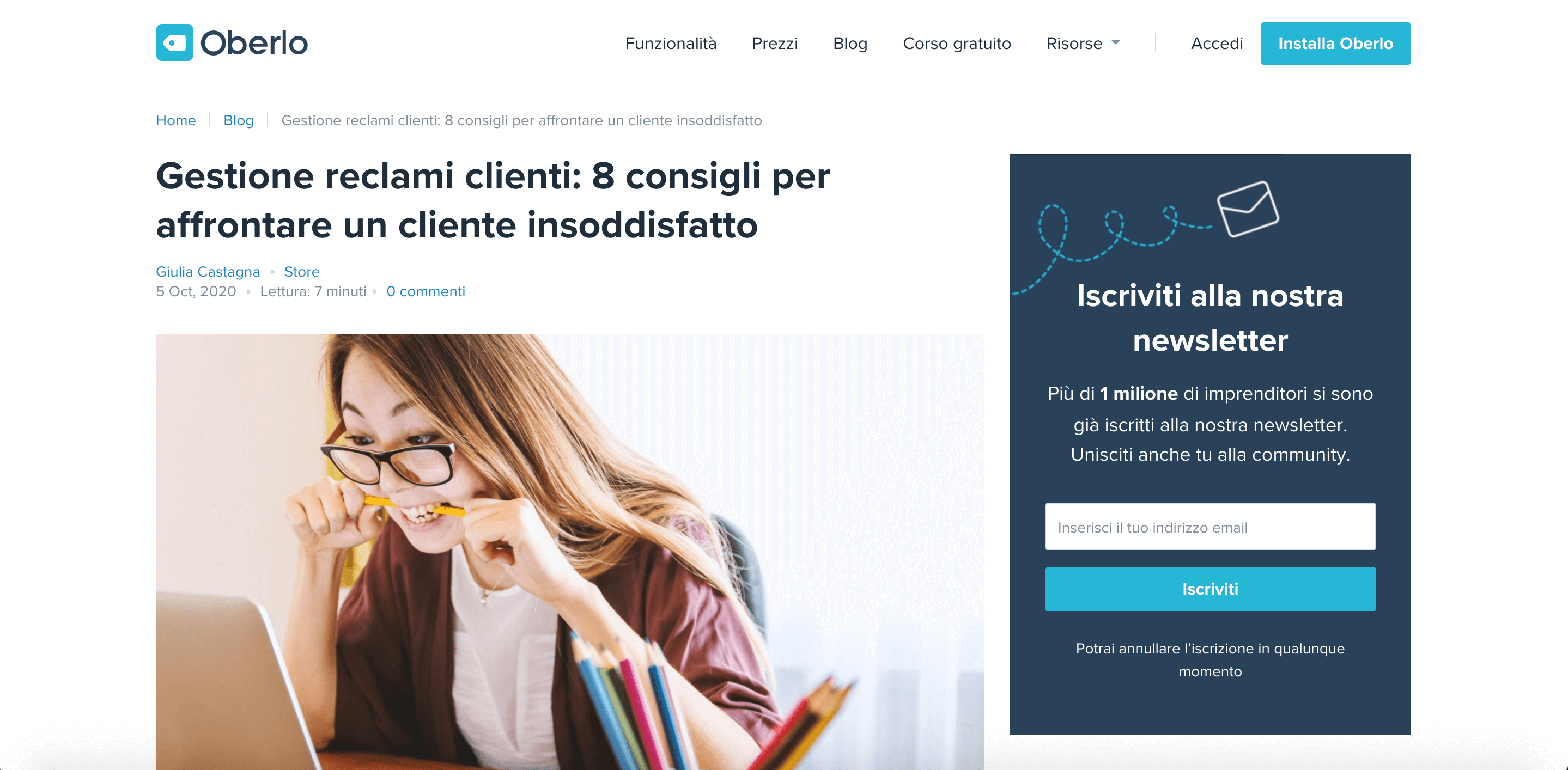 Oberlo Italian Marketing Translator