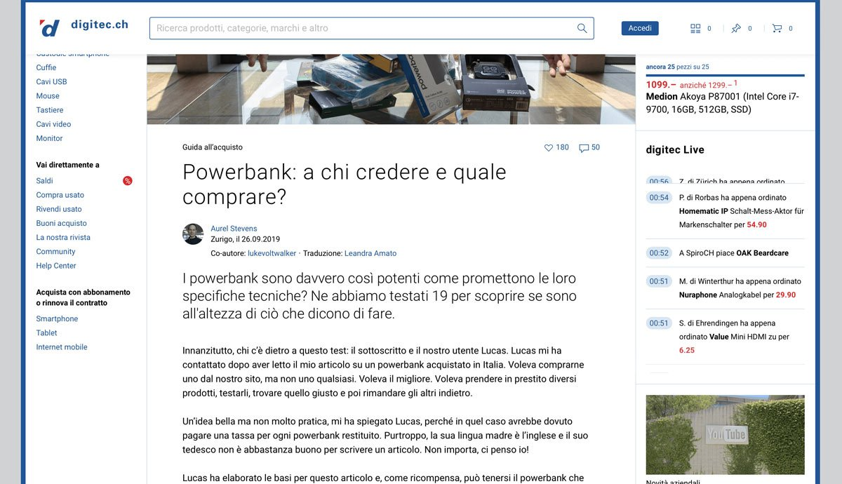 Swiss German to Swiss Italian | Digitec Galaxus | Powerbank