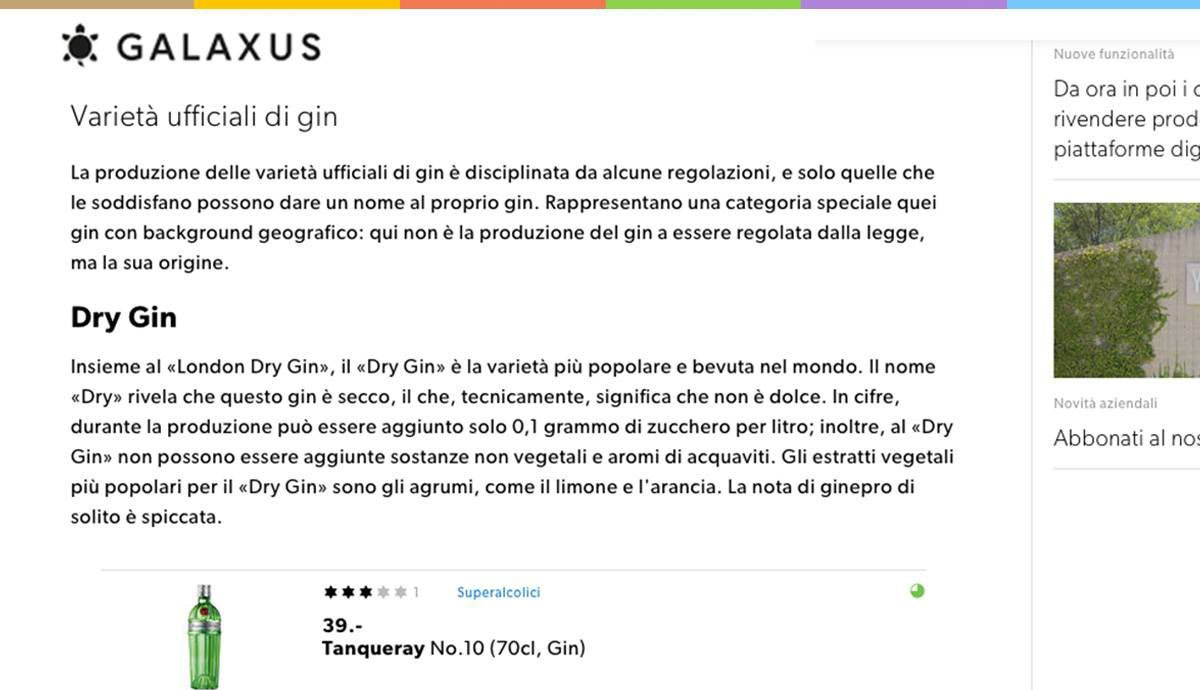 Swiss German to Swiss Italian | Digitec Galaxus | types of Gin you should know about