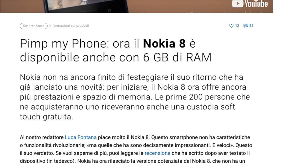 Swiss German to Swiss Italian   Digitec Galaxus   The new Nokia 8