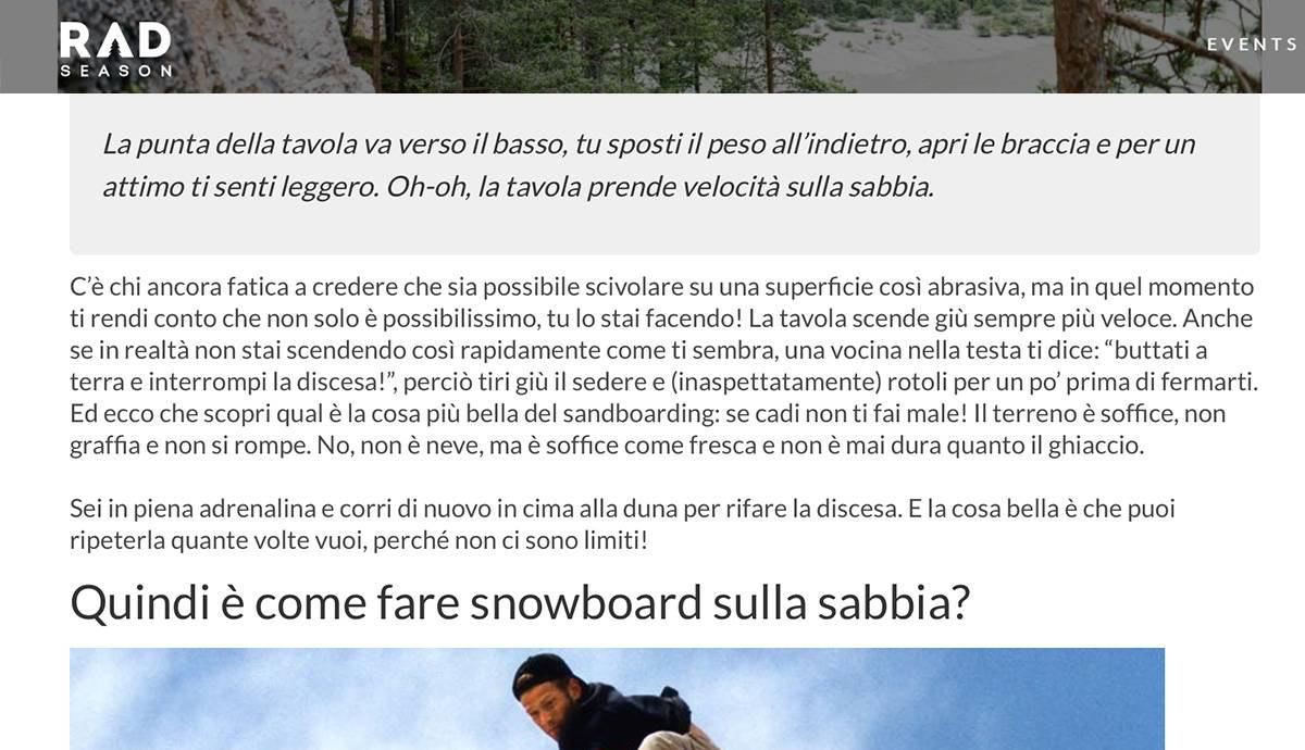 English to Italian   Rad Season   Sandboarding