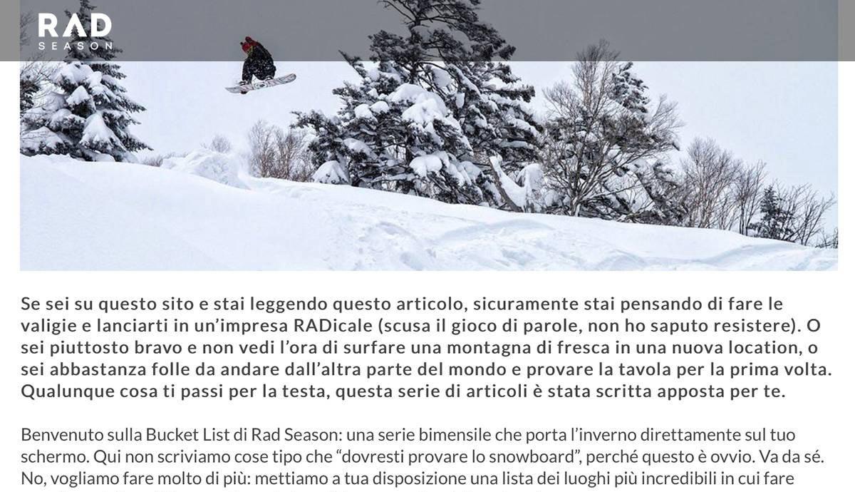 English to Italian | Rad Season | Snowboarding Bucket List | 2: Japan